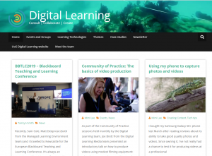 Digital Learning blog home page