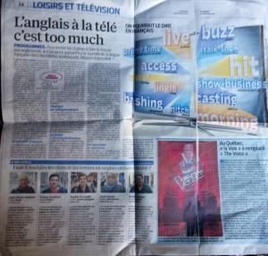 Loisirs et television Le Parisien Lundi 16 mars 2015
