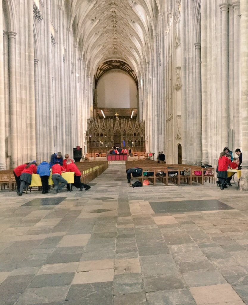 Finding new places for teaching: optical sciences workshops in Winchester Cathedral.