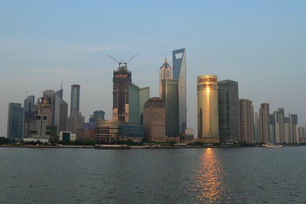 The Shanghai Bund, July 2008.