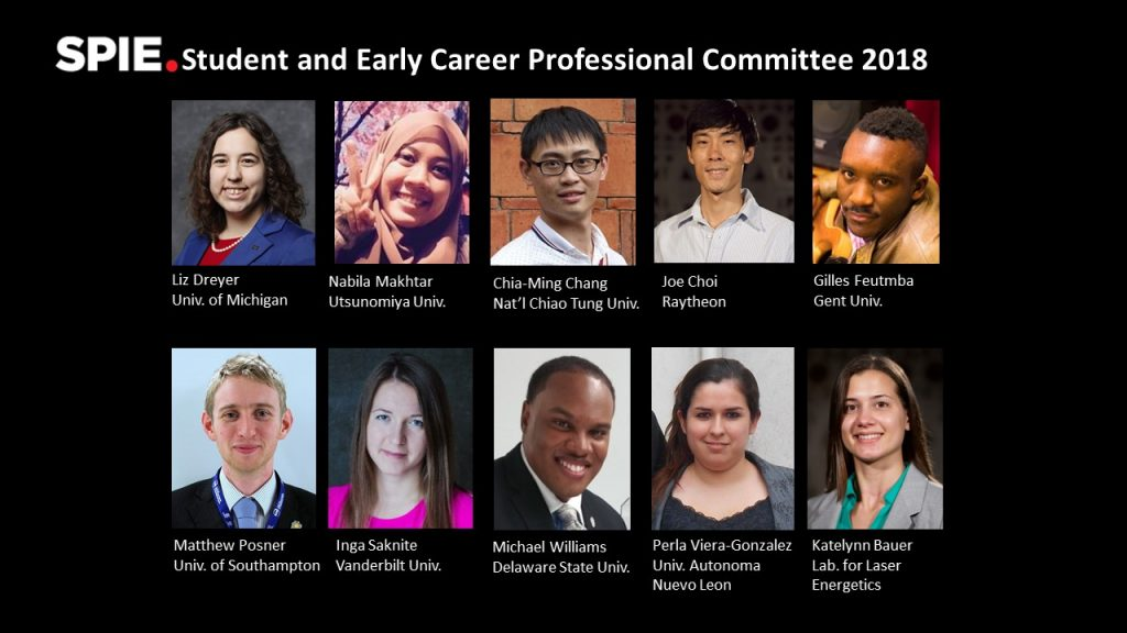 SPIE Student and Early Career Professional Committee 2018
