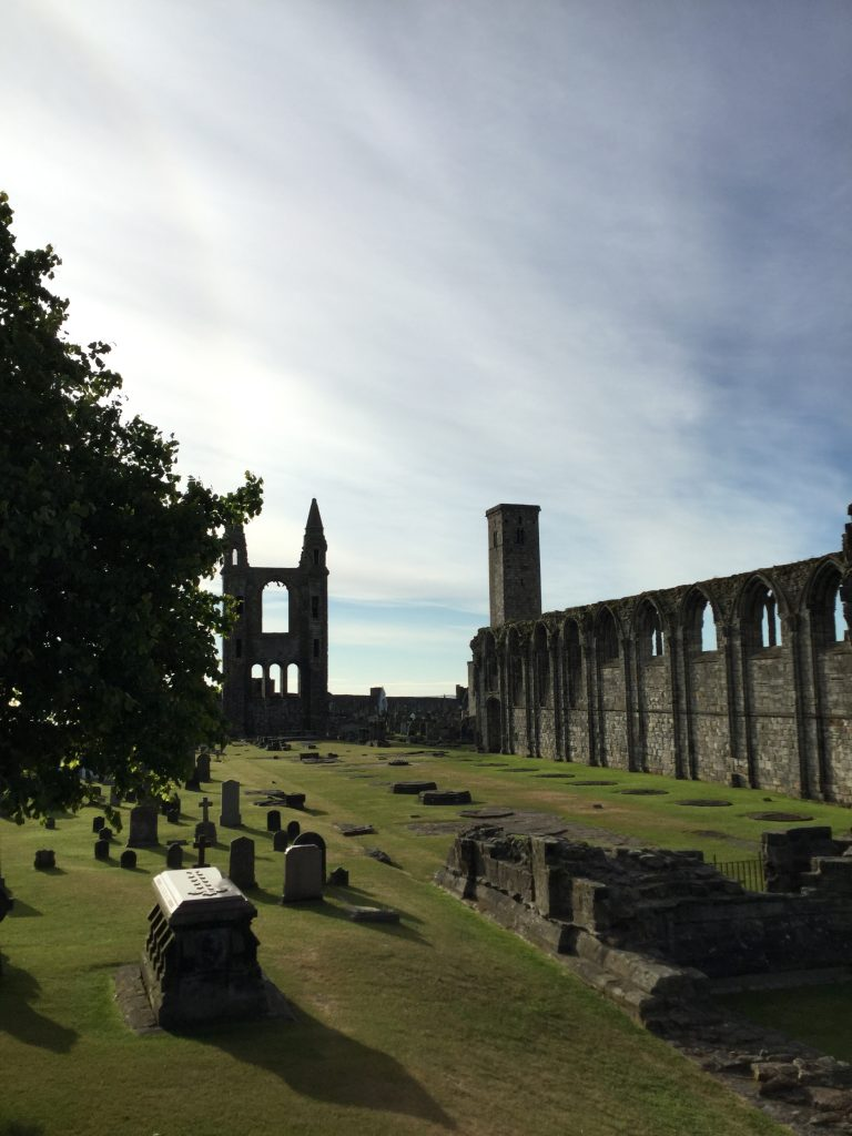 The cathedral ruins
